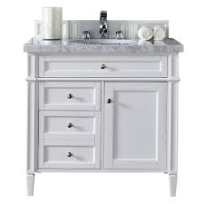 36 inch bathroom vanity with top. James Martin Signature Vanities Brittany 36 In. W Single Vanity In Cottage White With Marble Inch Bathroom Top B