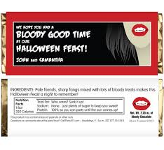 chocolate bar wrappers halloween vampire theme candy bar wrapper