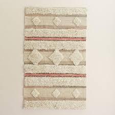 3x5 blush and ivory moroccan wedding blanket area rug world market