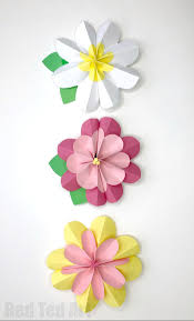 Easy Paper Flower Easy 3d Paper Flowers For Spring Red Ted Arts Blog