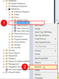 How To Rename A View In Sql Server Using Ssms And Transact Sql