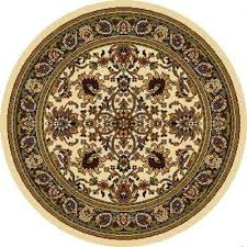 royalty ivory 8 ft x 8 ft round indoor area rug