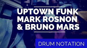 Uptown Funk Drum Sheet Music Total Drummer Online Drum