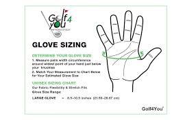Golf Glove Hand Size Chart Amazon Com New Premium Golf Glove My Glove Fit Natural