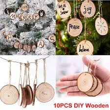 details about 10pcs wood tree ornaments props diy kids painting decor craft tags s6