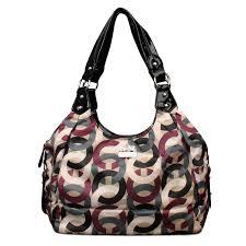 Coach Fashion Poppy Signature Medium Black Multi Shoulder Bags ENH  Coach