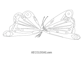 Hungry Caterpillar Coloring Pages Very Page Free Menotomyme
