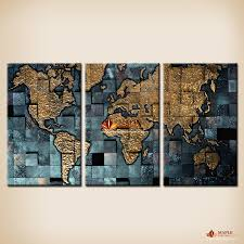 modern wall art the abstract world map painting on canvas canvas prints painting pictures decor paintings for living room wall