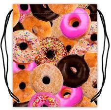 Yummy Colorful <b>Donut</b> Cake Art <b>Pattern</b> Food <b>Polyester</b> Fabric ...