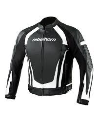 rebelhorn piston ii black white leather motorcycle jacket skórzana kurtka motocyklowa