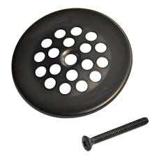 bath grid strainer with in oil rubbed bronze