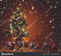 Falling Christmas Tree Lights Christmas Tree Lights Ornaments Done Long Exposure Snow