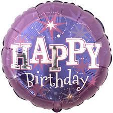 Purple Sparkle Happy Birthday Foil Balloon