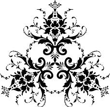 Pattern Leaf Black And White Ornament Botany Design Floral