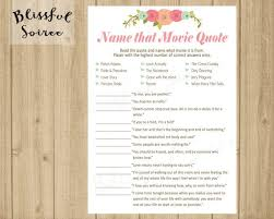Dirty Love Quotes Delectable Bridal Shower Game Name That Movie Love Quote Romantic Etsy