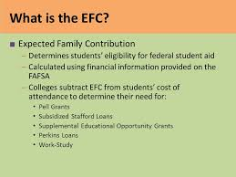 Estimated Expected Family Contribution Efc Chart 2016 Efc Formula College Access Training Ppt Video Online
