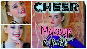 cheer makeup hair tutorial avrey ovard