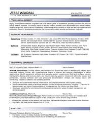 Network Administrator Resume Sample Awesome Ccna Format Screenshoot