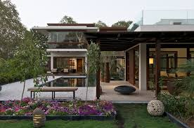 Beautiful Luxury Modern House In India Timeless With Courtyard Zen Garden  The