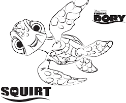 Finding Nemo Coloring Pages Nemo Coloring Pages Crush And Squirt