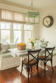 Dining nook furniture Farmhouse Kitchen Light Green Themed Breakfast Nook Hative Beautiful And Cozy Breakfast Nooks Hative