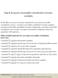 top8accountsreceivablecoordinatorresumesamples 150517020500 lva1 app6892 thumbnail 4 jpg cb 1431828346