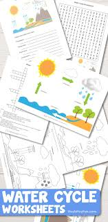 Free Printable Water Cycle Worksheets + Diagrams - Itsy Bitsy Fun