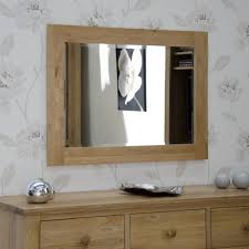 lyon living room furniture large light oak rectangular wall mirror 102cm