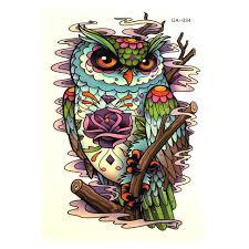 временная татуировка сова Tat110