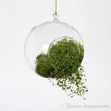 4pcs set hanging glass globe vase air plant terrarium set garden succulent planters tealight holders for wedding candlestick