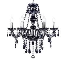 black crystal chandelier france design k9 lustre fixture 6 heads diy art chandeliers lights candle flame pendant lamp warm light black crystal chandelier lighting