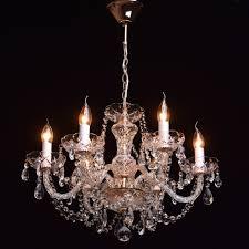 Mw Light 367012606 Klassischer Kristall Kronleuchter 6 Armig Gold Wohnzimmer