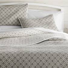 Raj Grey King Reversible Quilt | Crate and Barrel &  Adamdwight.com