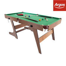 hy pro 5ft folding snooker and pool table from the argos on
