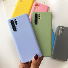 Fashion <b>Candy Color Silicone TPU</b> Soft Case For Huawei P30 P20 ...