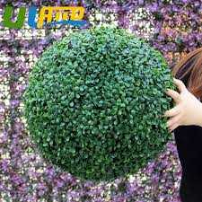 Decorative Boxwood Balls 100cm Sythenic Plastic Topiary Kissing Ball Decorative Artificial 82