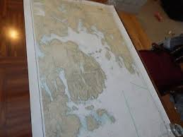Noaa Paper Nautical Chart 13318 Frenchman Bay And Mount