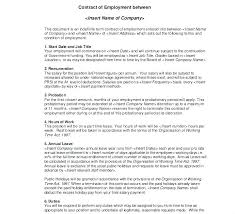 Temporary Employment Contract Template Temporary Will Template