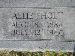 Allie Holt (1884-1940) - Find A Grave Memorial