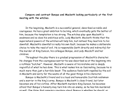 essay about macbeth and banquo  macbeth banquo essays and papers