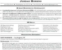 Human Resources Generalist Resume New Hr Resume Lordvampyrnet Magnificent Hr Generalist Resume
