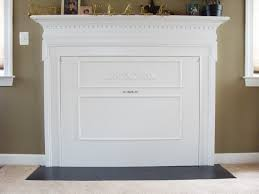 fireplace cover up amazing ideas with fireplace covers insulation