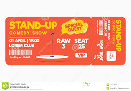 Show Ticket Template Stand Up Comedy Show Ticket On White Background Ticket Template For