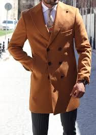 Gentwith Gerry Camel Slim Fit Wool Coat