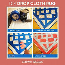 diy rug painted canvas drop cloth yes