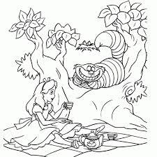 Alice In Wonderland Kleurplaat Kleurplaat Voor Kinderen