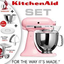 Pink Kitchen Aid Mixer Kitchenaid Artisan Stand Mixer Set Pink Cookfunky