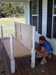 things made from old doors martha stewart daybed for porch made out of old doors and porch post