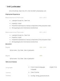 Resume Simple Format Custom Resume Examples Basic Hflser