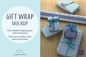 Design Your Own Wrapping Paper Gift Wrap And Presents Mockup Scene Have You Been Dreaming